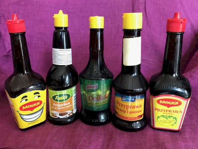 Long Neck Maggi seasoning bottles